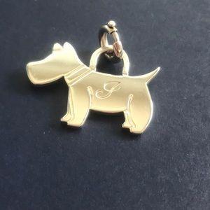 Tiffany & Co Silver Dog Scottie Charm J engraving